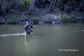 fly fishing on the rio