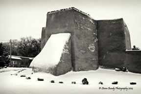 ranhoc church in first snow