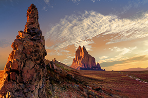 sunset at shiprock