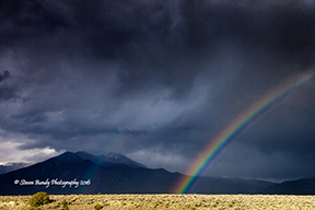 taos mountain rainbow