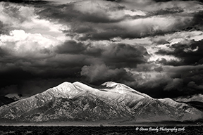 taos mountain storm clouds