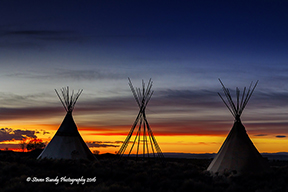 tepee sunset