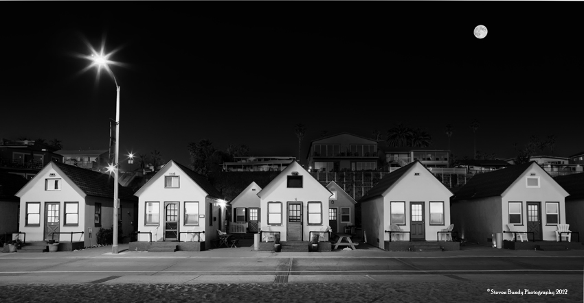 Roberts Cottages at Full Moon, Oceanside, CA, 2011