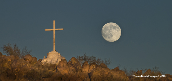 San Xavier Cross & Moon