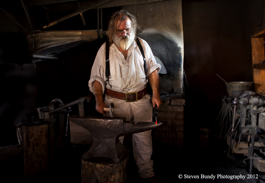 Blacksmith, Rayado, NM, 2012
