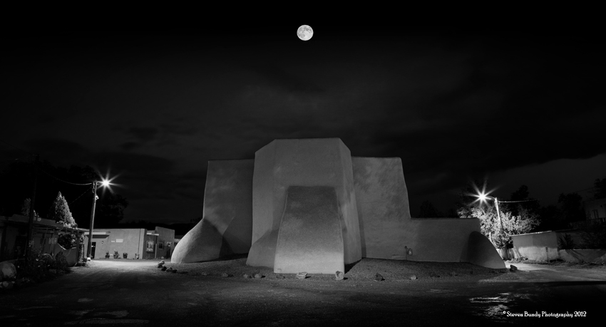 Ranchos Church & Full Moon,  Ranchos de Taos, New Mexico, 2011