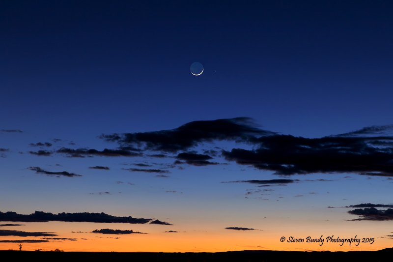 Crescent Moon st Sunset – Taos, NM – 2015