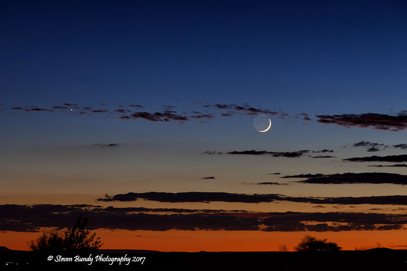Crescent Moon Sunset – Taos, NM – 2017