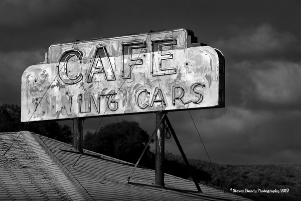 Old Dining Car Sign, CA, 2011