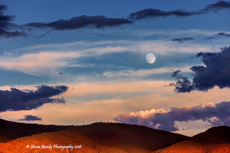 Full Moon Sunset – Taos, NM – 2016