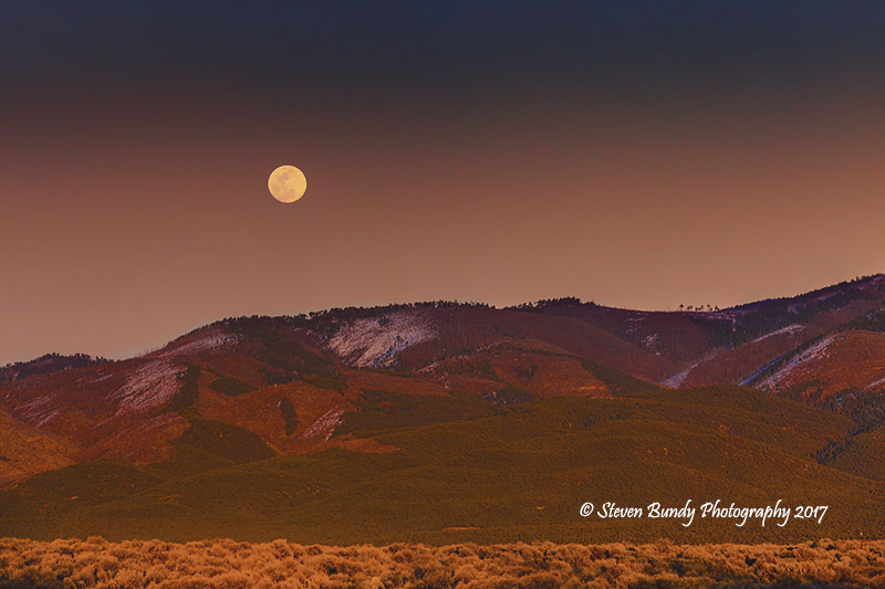 Full Moonrise – Taos, New Mexico – 2017
