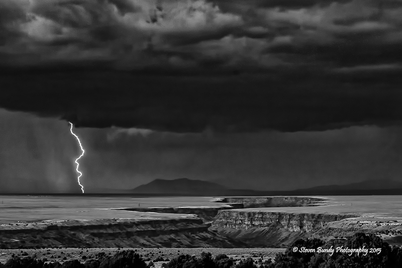 Lightning over the Gorge – Taos, NM – 2015