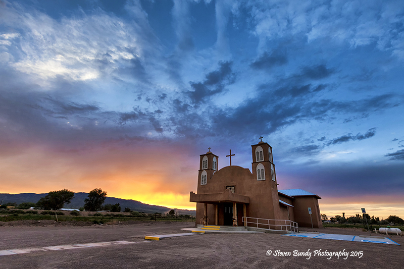 Lemitar Church Sunset – Lemitar, NM – 2015