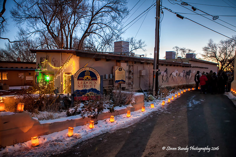 Lighting of Ledoux – Taos, NM – 2016
