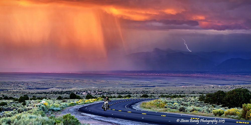 Lightning & Harley – Taos, NM – 2015