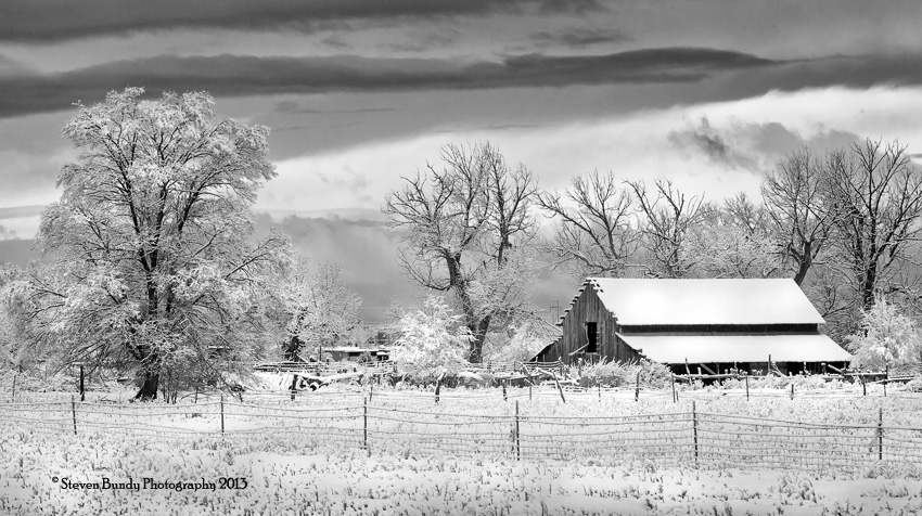 Los Pandos Ranch in Snow  Taos, New Mexico – 2013