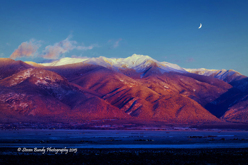 Mt. Wheeler Moonrise – Taos, NM – 2015