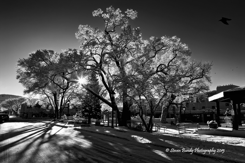 Plaza Morning Snow – Taos, New Mexico – 2015