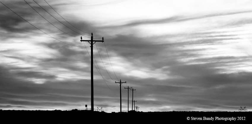 Power Pole Sunset- Carson, NM – 2012