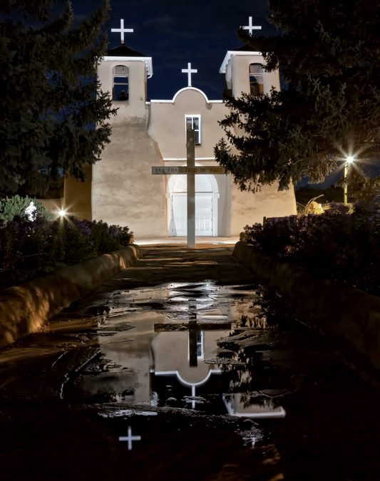 Rancho's Church Reflection, Taos, NM – 2014