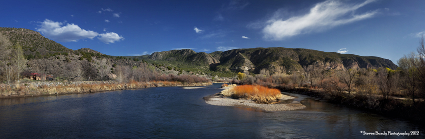 Rio Grande River at Pilar, New Mexico, 2010