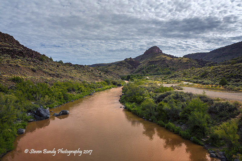 Rio Grande from Junction Bridge – Pilar, NM – 2017