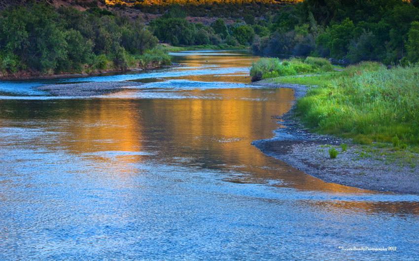 Rio Grande River Reflections – Pilar, NM, 2012