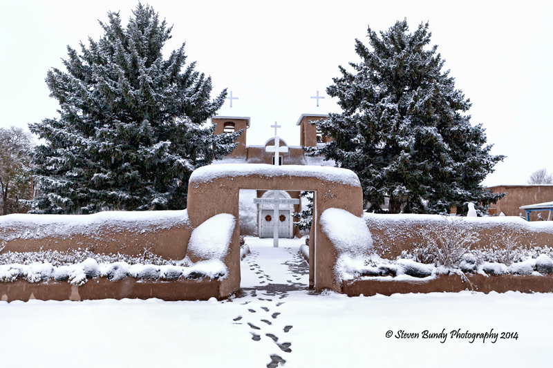 San Francisco de Asis in Snow – Taos, NM – 2014