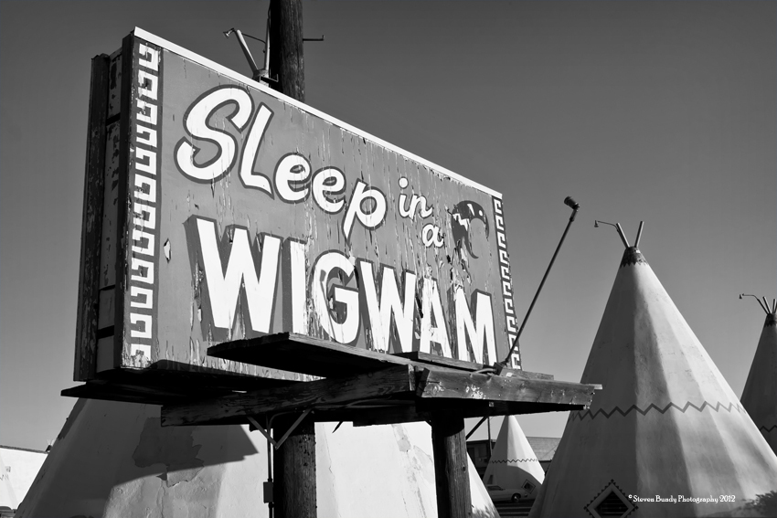 Sleep in a Wigwam, Holbrook, AZ, 2011