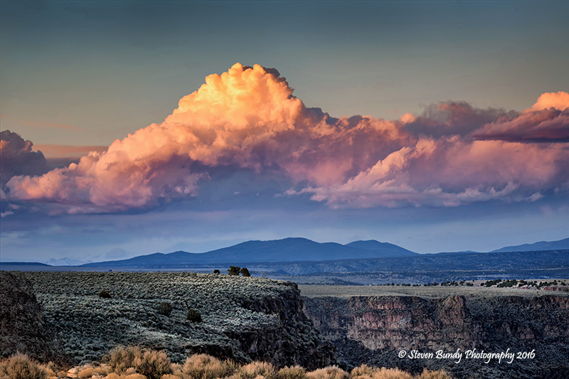 Storm Clouds at Sunset – Taos, NM – 2016