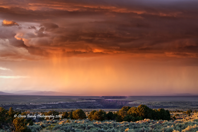 Sunset Storm over Rio Grande Gorge  Taos, New Mexico – 2014