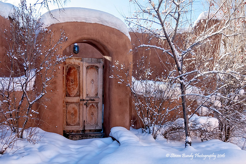 Talpa Gate in Snow – Talpa, NM – 2016