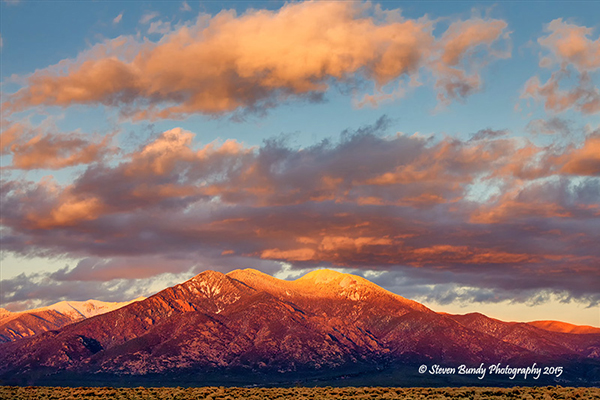 Taos Mountain Sunset – Taos, NM – 2015