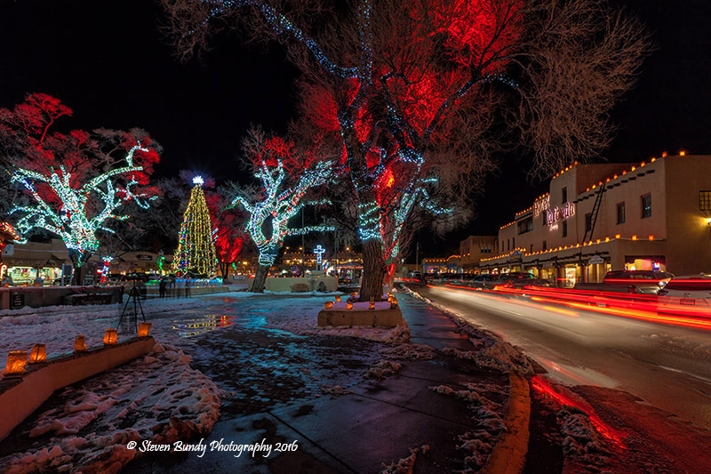 Taos Plaza Christmas Lilghts – Taos, NM – 2016