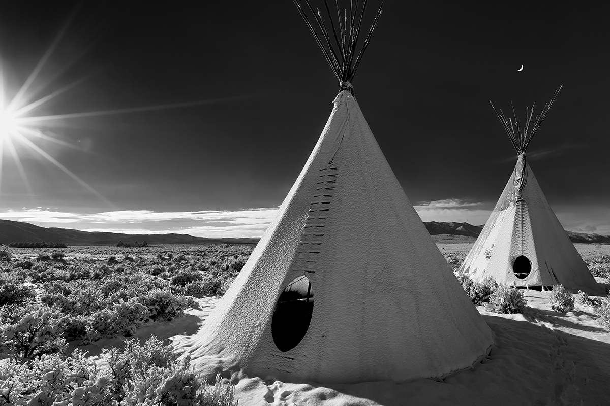 tepee in the snow 07