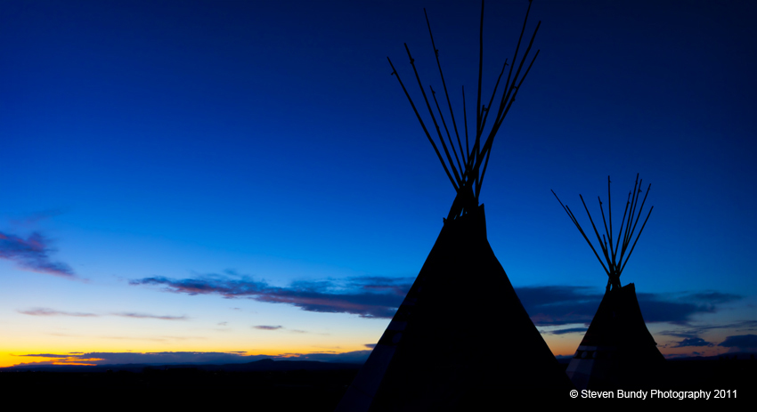 Tipi's at Sunset  New Mexico, 2011
