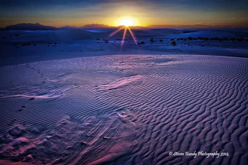 White Sands Sunset  White Sands National Monument, New Mexico – 2014