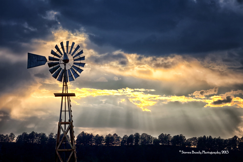 Windmill Sunset – Kiowa, Colorado – 2013